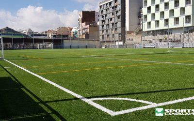 The remodeling works of the Fort Pienc municipal football fields in Barcelona are finished
