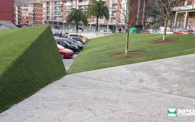 Re-installation of artificial grass, Parking Lapurdi de Galdakao (Bizkaia)