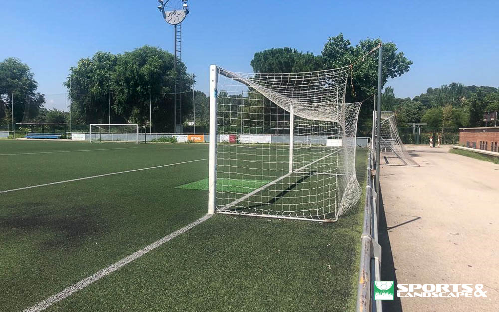 Contract signed for replace the artificial turf in the municipal soccer field of Primero de Mayo in Granollers