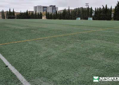 Installation of artificial grass reused in the annex field of the Sports City of Tafalla (Navarra)