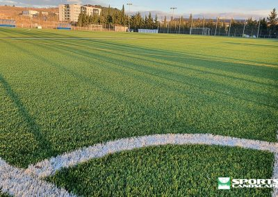 Replacement of the artificial grass of the soccer field of the Sports City of Tafalla (Navarra)